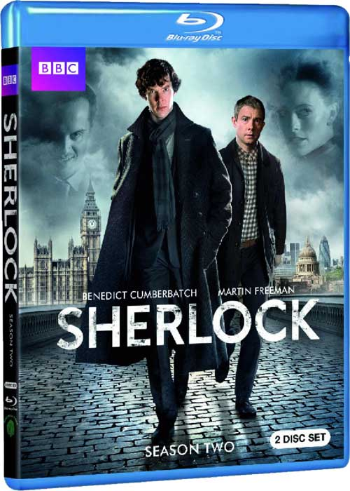 Blu Ray cover for Sherlock, Season 2